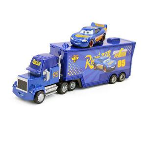 Disney Pixar Fabulous Lightning McQueen Mack Truck&Car 1:55 Diecast Toys Loose