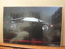 vintage Lamborghini Countach car garage man cave 1986  4289