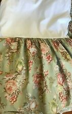 "Ralph Lauren Charlotte Full Double Bedskirt Dust Ruffle 15"" Drop Closed Corners"