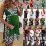 Womens Pregnant Maternity Pregnancy Bodycon Summer Causal Mini Short Dress Beach
