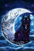 Celtic BlackCat by Brigid Ashwood Art Print Poster 12x18 inch