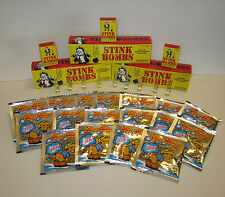 12 STINK BOMBS GLASS VIALS & 12 FART BOMB BAGS   NASTY GAS SMELL ODOR  GAG GIFT