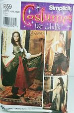 Simplicity 5359 Pattern Belly Dancer Bollywood Harem Girl Genie Costume Plus Sz