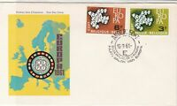 Europa Belgium 1961 Anderlecht Cancel Map CEPT Picture FDC Stamp Cover Ref 25945