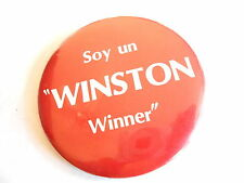 Cool Vintage Soy Un I Am a Winston Winner Cigarette Tobacco Advertising Pinback