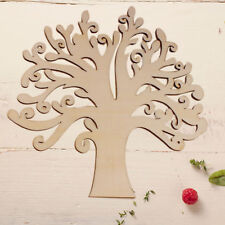 Creative Wooden MDF Craft Tree Shape Blank Family Tree Wedding Guestbook Crafts