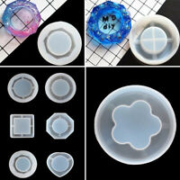 DIY Silicone Agate Coaster Pad Casting Resin Making Tool Epoxy Mould Craft Z6S3