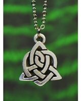 Pewter Celtic Sister Knot Necklace with chain Made in USA