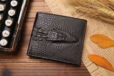 Mens Leather Bifold Wallet Aligator Head Slim Credit Card Money Holder Lot of 10
