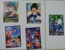 Lot Cartes DRAGON BALL Z Data Card BATTLERS McDonald's PROMO Cards with stickers