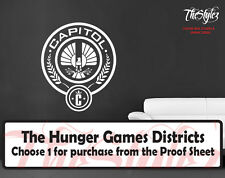 The Hunger Games Districts Custom Wall Vinyl Sticker