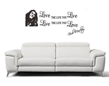 Adesivi murali da parete in vinile - Bob marley - 30 x 70 cm. - in italiano