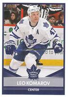 16/17 PANINI NHL STICKER #217 LEO KOMAROV MAPLE LEAFS *24860