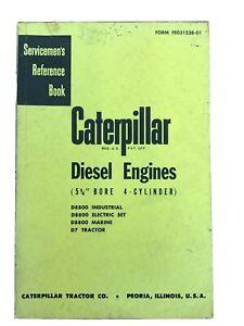 "Antique Caterpillar Diesel Engine 5¾"" Bore 4-Cylinder Serviceman Reference Boom"