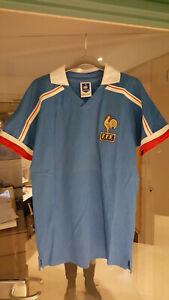 Maillot vintage collector équipe de France de football réédition 1986