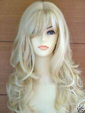 326 Neu Mode lange platin blond lockig Perücken