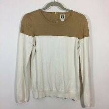 Anne Klein Top Women Size Small Color Block Scoop Neck Pullover