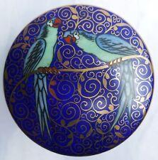Bonbonnière porcelaine de saxe polychrome—Friedrich Kaestner—Années 1920