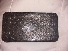 GUESS Wallet Hard Case Snap Closure Black Logo