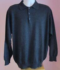 VTG Mens OLYMP Dark Grey Collared Wool Mix Jumper Size Large (p3)