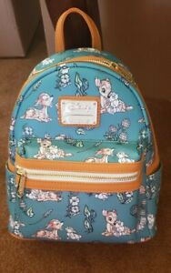 LOUNGEFLY DISNEY BAMBI & THUMPER FOREST FLORAL MINI BACKPACK