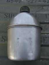 1-48-5 Authentic Wwii Ww2 Stainless 1944 D-Day Canteen For Belt Cover Pouch