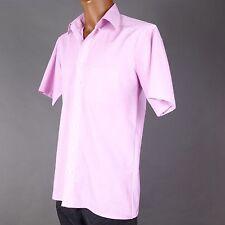 Unifarbene klassische Kurzarm Herrenhemden mit Olymp