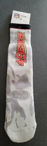 SAN FRANCISCO 49ERS, CAMO CREW SOCKS, MEN'S SIZE 10-13, LARGE, NFL- NEW AWESOME