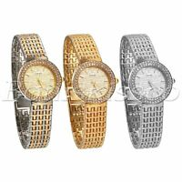 Women's Luxury Stainless Steel Band Rhinestone Dial Analog Quartz Wrist Watch