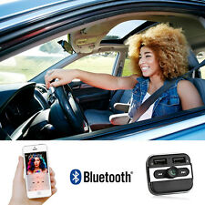Wireless Bluetooth FM Transmitter Car Dual USB Charger MP3 Audio Player Kit