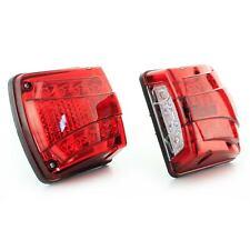 24V LED Rosso Posizione Luce + Bianco Targa Camion Rimorchio Telaio 2x
