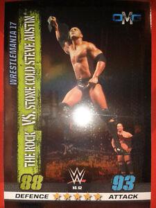 Slam Attax 10 WWE WWF OMG-Card Nr.62 The Rock & Stone Cold Sammelkarte Card