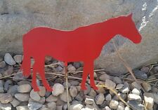 Red Horse- Matte finish Country Western garden yard lawn art w/ detachable stake