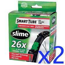 "2x SLIME 26"" Self Sealing SCHRADER Valve MTB Tube 26x1.75-2.125"""