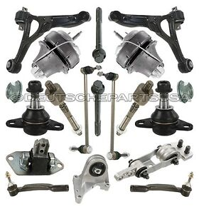 VOLVO XC90 Front Control Arms Ball Joint Tie Rod Engine Mounts Suspension Kit 19