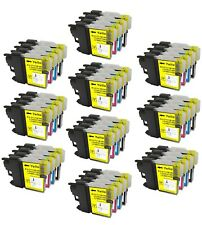 40 NON-OEM INK CARTRIDGE BROTHER LC-61 LC-61BK LC-61C LC-61M LC-61Y MFC-6490CW