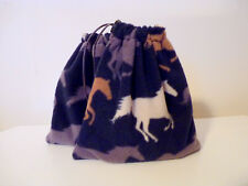 Stirrup Iron Covers, Stirrup Covers - Horse Print - Navy