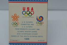Vintage 1988 Official Olympic Collector Pin Set Seoul Calgary Winter Games {B86}