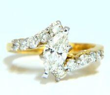 GIA Certified .77ct Marquise Shape diamond ring 14 Karat