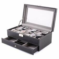 Mvpower 12logements Boîte de montre en cuir à bijoux Affichage étui