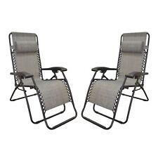Caravan Canopy Grey Infinity Zero Gravity Chair 2 Chaise Outdoor Lounge Patio