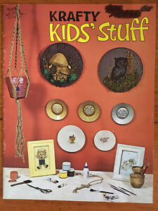 Crafty Kids' Stuff Booklet Mengelsen's 1977 Macrame Quilling Mache Tole Seed Art