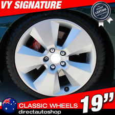 4x SIGNATURE 19inch Silver Alloy Wheel HOLDEN COMMODORE VL VK VT VY VZ VE VF ZB