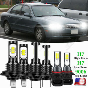 For KIA OPTIMA 2003 2004 2005 6000K 6X Car LED Headlight Bulbs Fog Lamp Kits