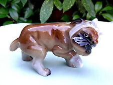* VINTAGE * BOXER PUPPY FIGURINE with BANDAGED PAW & HEAD * So Cute *