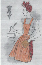 1943 Vintage Sewing Pattern ONE SIZE APRON SCARF & POT HOLDER (R35)
