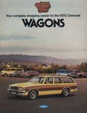 1978 Chevrolet 20-page Station Wagons Sales Brochure - Malibu Caprice Vega Van