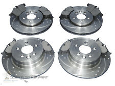 MG ZT ZTT 2001-2005 FRONT & REAR DIMPLED GROOVED BRAKE DISCS & MINTEX PADS