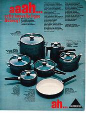 PUBLICITE ADVERTISING 064  1969  AUBECQ   la nouvelle ligne des casseroles