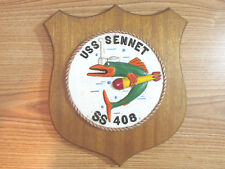 USS SENNET SS 408 MILITARY PLAQUE SUBMARINER HAND PAINTED ALLOY ALUMINUM